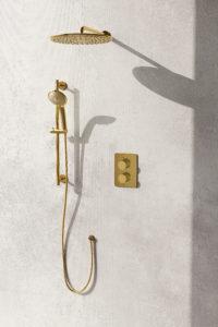 Golden Night Shower System Gold